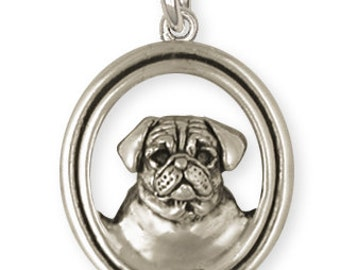 Pug Dog Charm Jewelry  PG35-C