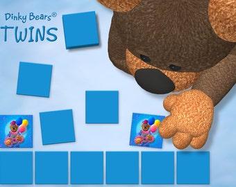 Dinky Bears - Funny Clowns Twins - Digital Download