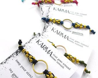 Sacca Karma Bracelet,  Yoga Bracelet, Bohemian Bracelet, Yoga Jewelry, Yoga Gift, Positivity Bracelet