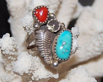Vintage Southwestern Native American Ring Size 61/2