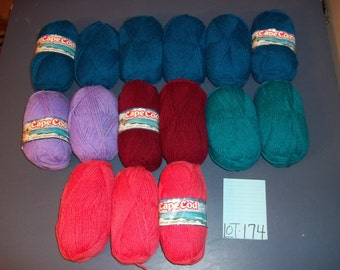 PRICE CUT Caron Cape Cod Wintuk Mixed Lot of 15 Skeins
