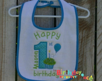 Birthday Boy Bib Personalized for your child (1167)