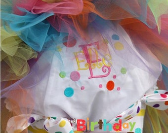 Birthday Dots Fancy Pants Bloomers Personalized for your child (579)