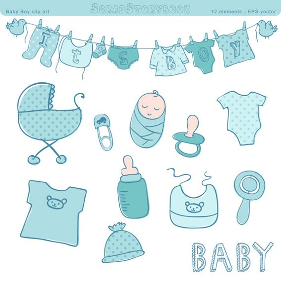 baby boy clipart shower - photo #30