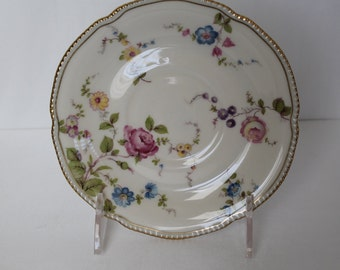 Castleton China Cup Saucer Floral Sunnyvale Pattern