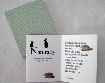 Art Gift, Handmade card, accordion card, concertina card, natural world, gift for him, stocking stuffer