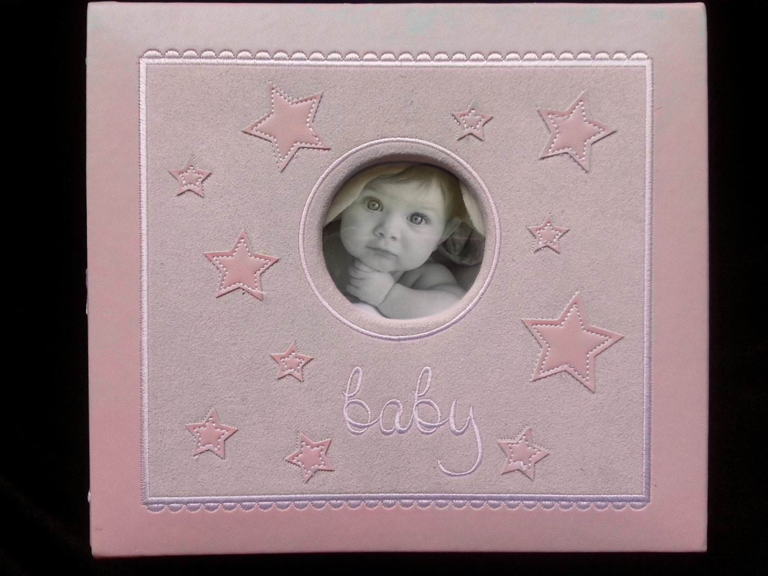 new very cute 8 x 8 post bound scrapbook album baby girl