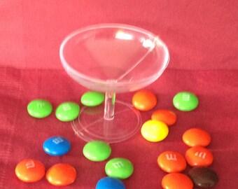 24 Mini Plastic Champagne cups glasses Wedding Shower Favors