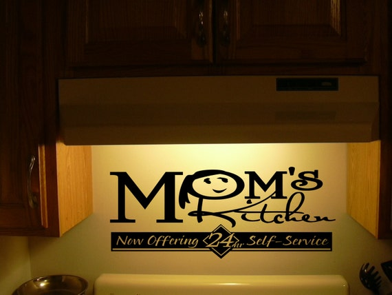 Kitchen wall decal wall vinylmom 39 s kitchen by - Funny kitchen wall decals ...