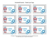 PRINTABLE Robot Thank-you Tags Rectangle