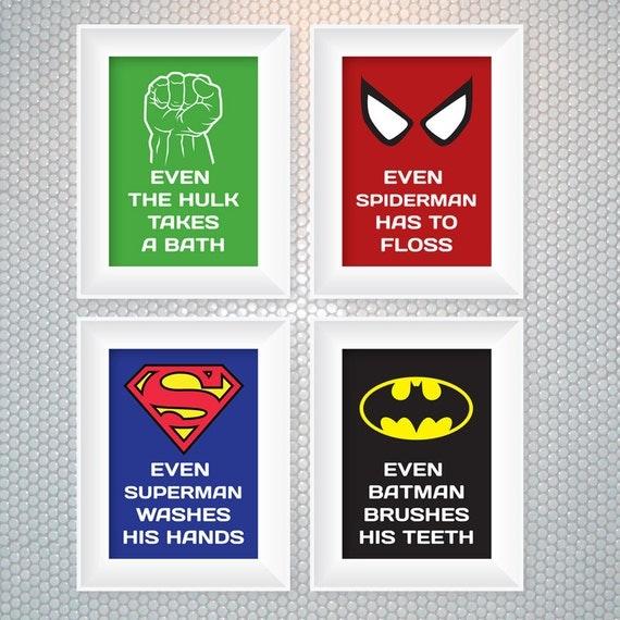Superhero Bathroom Decor
