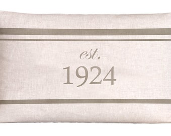 Natural Linen Grain Sack Style 1924 Pillow