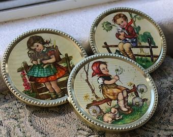 Frankonia Schokotaler Dutch Chocolate tins - set of 3