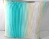 Blue and  Cream Stripes decorative Pillow cover 16X16