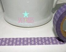 Washi Japanese masking tape MT / purple lavender white / scrapbooking packaging ribbon wedding favors 10M