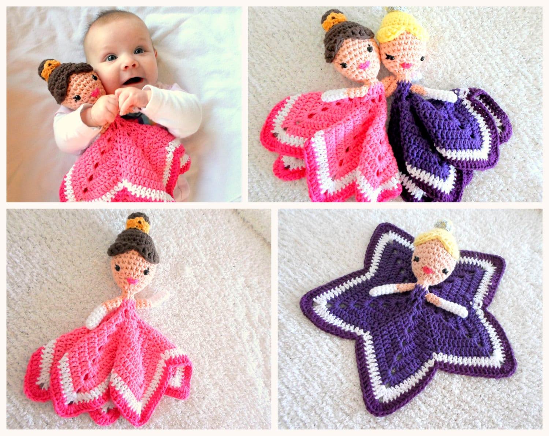 Crochet Pattern Princess Dress Blanket : Princess Lovey Crochet Amigurumi Pattern PDF INSTANT DOWNLOAD