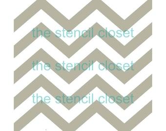 12 x12 Large Skinny Chevron stencil