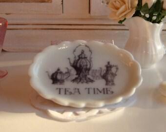 Tea Time dollhouse tray