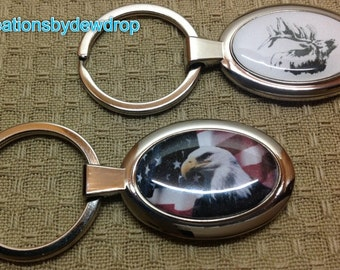5 Custom photo Keychains or pendants with any photo or image