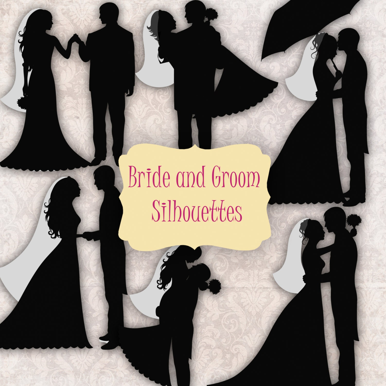 ... clip art displaying 17 images for bride and groom silhouette clip art