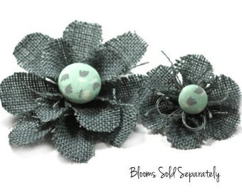 Grey/Gray Flower Pin, Flower Brooch Pin Accessory