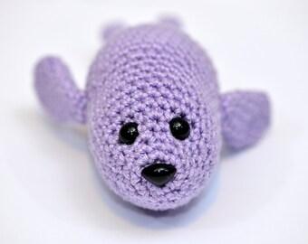Fuzzy Seal amigurumi PDF CROCHET PATTERN   planetjune