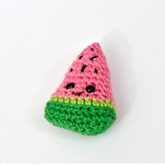 Amigurumi Watermelon : Crochet Watermelon amigurumi toy FREE SHIPPING