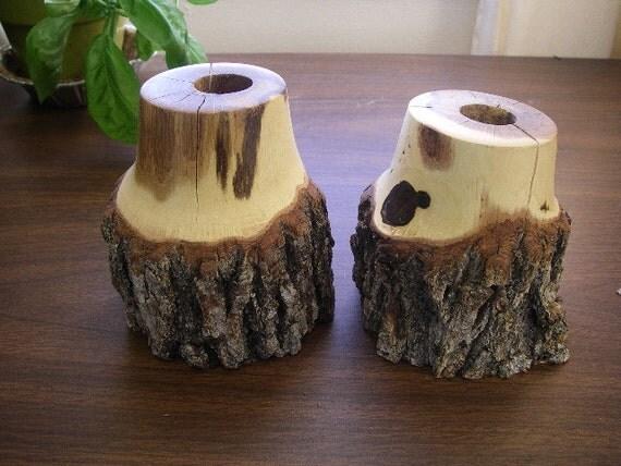 Gambel Oak Wood Turned Gambel Oak Candle