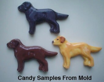 Labrador Retriever Chocolate Mold - Labrador Retriever Candy Mold - Lab Candy Mold - Chocolate Labs
