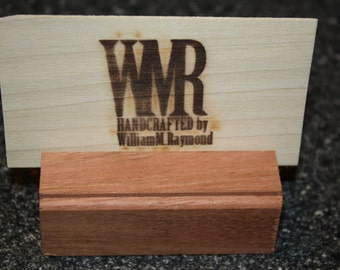 Handmade wooden card holders