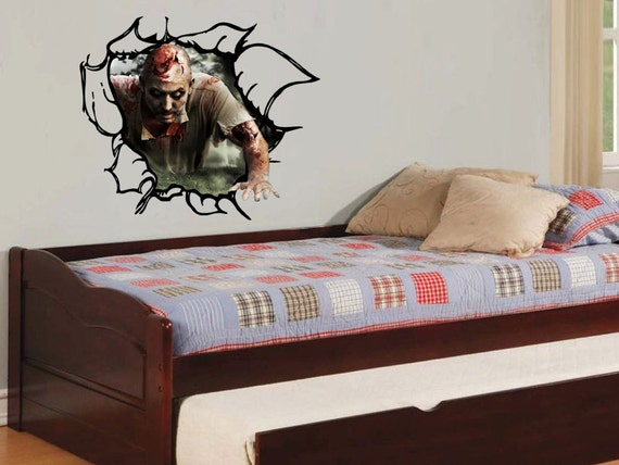 Zombie 3d vinyl wall decal for 3d wall decals