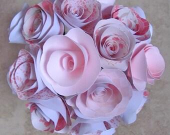 Pale pink paper flower bouquet