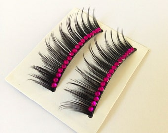 Glamour False Eyelashes -Available in 12 Colors to Choose From-
