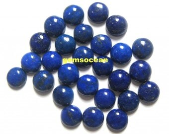 Lot of Stunning 25 Pieces AAA Quality Natural Lapis Lazuli Cabochon 5x5 mm round Loose Gemstone Calibrated