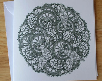 Lace design 5 blank greeting card
