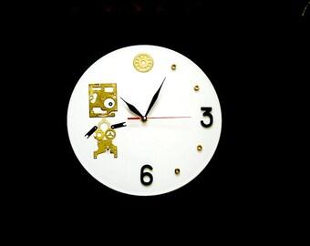 Steampunk wall clock modern wall clocks steampunk wall clocks unique wall clocks gift for him cool wall clocks Steampunk Boy steampunk art