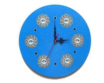 Wall clock kids clocks blue wall clock modern wall clocks nursery unique wall clocks decorative wall clocks unusual wall clock Blue Eyes