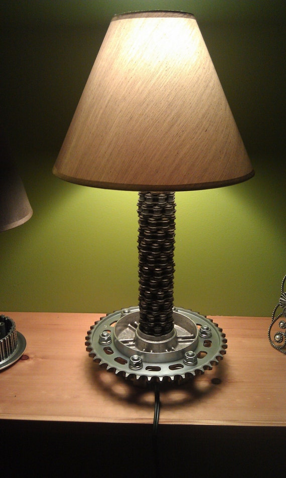 Motorcycle Chain And Sprocket Lamp By Motometalfab On Etsy