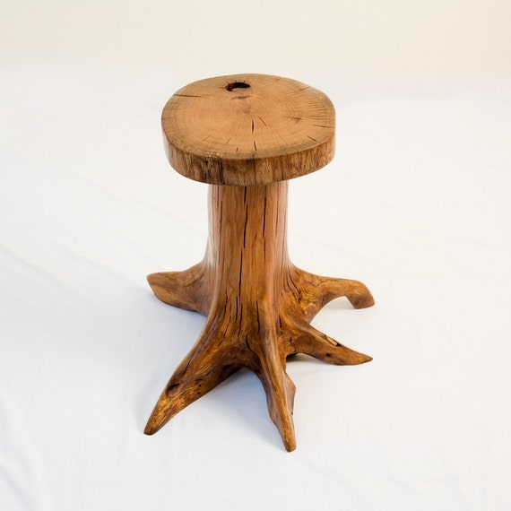 Red oak tree stump end table by IngrainedElegance on Etsy