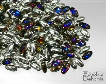 10 g Crystal Bermuda Czech RIZO Beads 6x2,5 mm (7179)