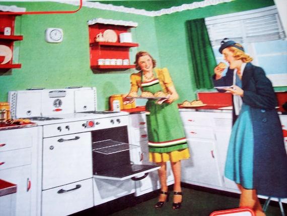 excellent 1930s kitchen | 1930s Kitchen Decor advertisement American Gas by ...