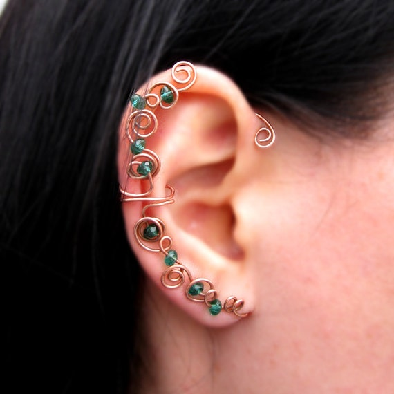 Items similar to Ear Cuff Jewelry Non Pierced Wire Wrap ... Ear Piercing Jewelry