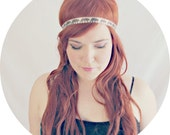 Brown Bear Headband // One Size // Hippie Headwear // Vintage Look Headband