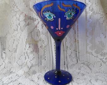 Cobalt Blue Martini Lady