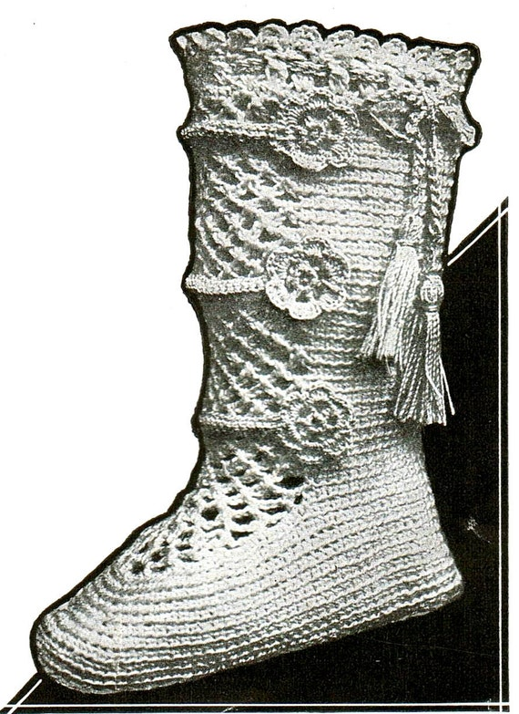 Baby Dress Crochet Pattern Victorian : Items similar to Antique Victorian Baby Booties Thread ...