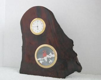 California Redwood Burl Desk Clock
