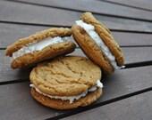 Molasses Oatmeal Whoopee Cookies