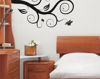 Beautiful Branch with Flowers Decal sticker wall modern floral