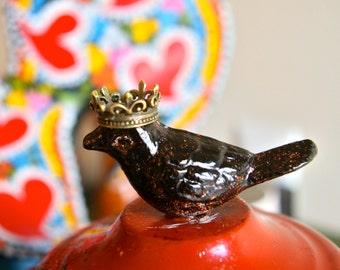 Crown Charm/Pendant - Bronze - Set of 6