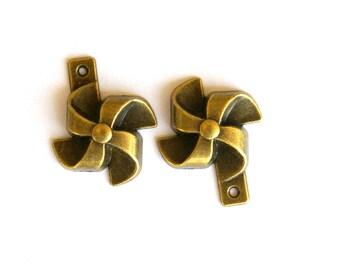 3D Pinwheel Charm- Set of 2  -27-